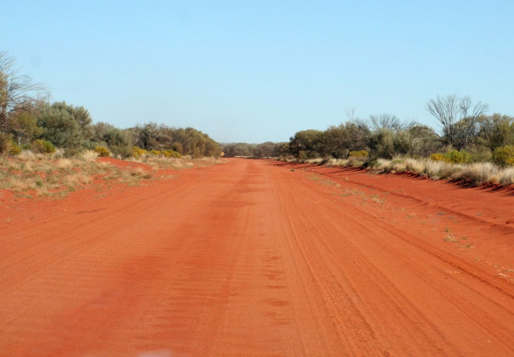 Remote red dirt road, Northern Territory