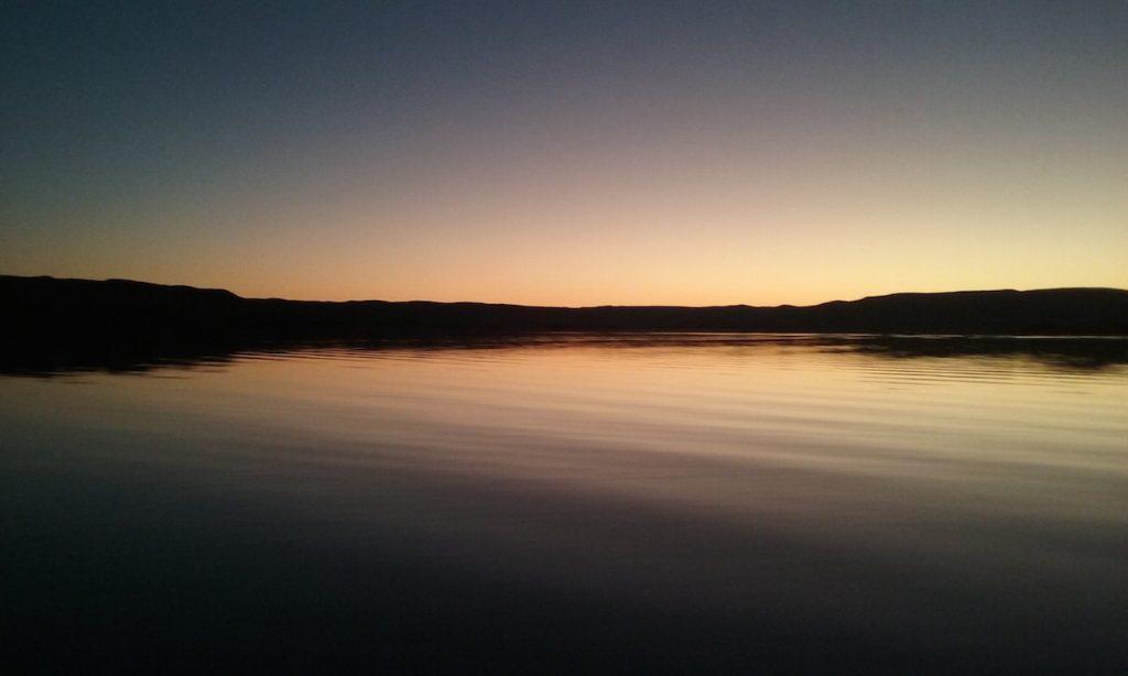 Sunset over Lake Argyle, Western Australia